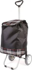 """Čierna károvaná nákupná taška na kolieskach """"Lorry"""""""