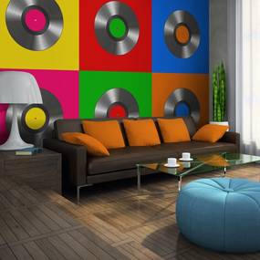 Fototapeta - Vinyl record (pop art) 400x309