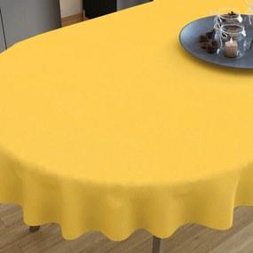 Goldea dekoračný obrus loneta - sýto žltý - oválny 140 x 280 cm