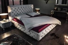 Dizajnová posteľ Laney 180x200 cm sivý zamat