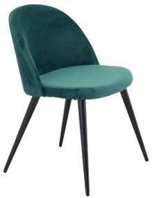Velvet stolička zelená