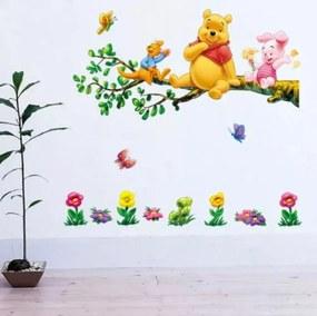 "Samolepka na stenu ""Macko Pú 3"" 90x82 cm"