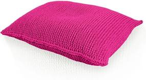 Pletený vankúš ružový obdĺžnik - 40x50cm