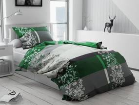 Bavlnené obliečky Luxury zelené