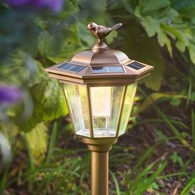 Solárne LED svietidlo do zeme Tivoli medený vzhľad