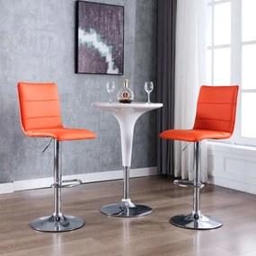 vidaXL Barové stoličky 2 ks, oranžové, umelá koža