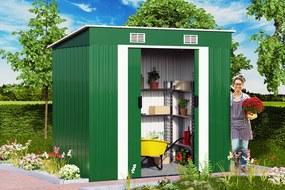 Záhradný domček 185 x 108 cm - zelená