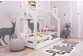 MAXMAX Detská posteľ z masívu so zásuvkou DOMČEK BEDHOUSE 200x140 cm 200x140 pre všetkých