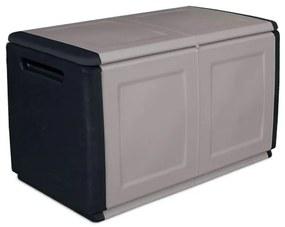 Artplast Plastový odkladací box s vrchnákom, 960x570x530 mm, sivý