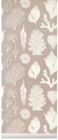 ferm LIVING Tapeta Katie Scott Shells Dusty Rose