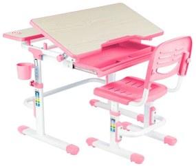 FD Rastúci detský písací stôl Laventa - modrý, ružový Farba: Ružová
