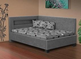 Nabytekmorava Čalúnená posteľ s úložným priestorom Mia Robin 160 matrac: matrace 15 cm, farba čalúnenie: hnědá, úložný priestor: bez úložného priestoru