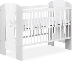 Klups Detská postieľka Nati Štvorlístok sivo-biela