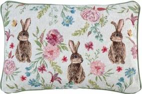 Veľkonočný vankúš s výplňou Bunny Bloom 32 x 48 cm - Sander