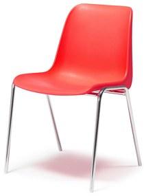 Plastová stolička Sierra, červená