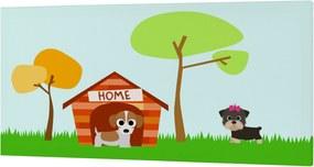 Mr. FOX Nástenný obraz Dogs - Pejša, 27x54 cm