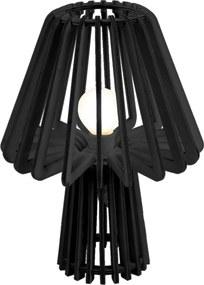 LEITMOTIV Drevená čierna stolná lampa Edged Mushroom