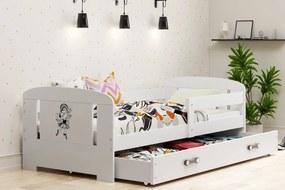 BMS Group Jednolôžková posteľ  FILIP - so zásuvkou - BIELA