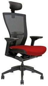 Kancelárska stolička Merens, červená