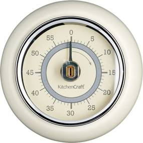 BonamiKuchynská magnetická minútka v krémovobielej farbe Kitchen Craft Living Nostalgia, ⌀ 7,5 cm