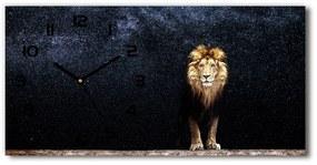 Sklenené hodiny na stenu Lev na pozadí hviezd pl_zsp_60x30_f_125106847