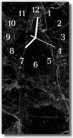 Nástenné hodiny vertikálne  Čierny grafit
