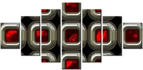 Tlačený obraz Červené vnútro 210x100cm 1469A_7A