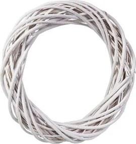 ČistéDrevo Prútený veniec biely 26 cm