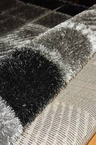 Berfin Dywany Kusový koberec Seher 3D 2615 Black Grey - 60x100 cm