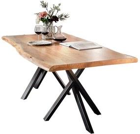 SIT MÖBEL Jedálenský stôl TABLES & BENCHES CURVE DOUBLE STAR 220 × 100 × 78 cm