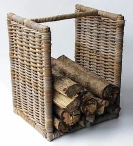 Ratanový stojan kôš na drevo