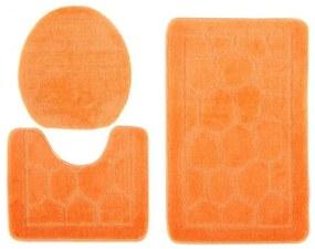 Kúpeľňové predložky 1147 oranžové 3 ks, Velikosti 50x80cm