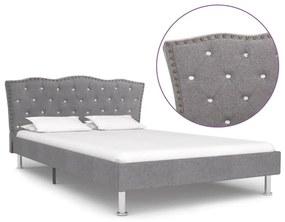 vidaXL Rám postele bledosivý látkový 120x200 cm