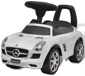 vidaXL Biele Mercedes Benz detské autíčko na nožný pohon