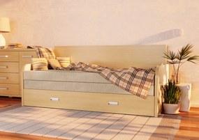WOOD SERVICE Rozkladacia posteľ Ľubka R 80 x 200
