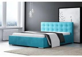 Čalúnená posteľ DIANA modrá rozmer 140x200 cm