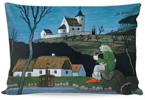 Matějovský Obliečka na vankúšik Deluxe Josef Lada Hastrman a hviezdy, 33 x 50 cm