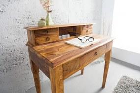 Písací stôl Hemingway 90 cm z masívneho dreva Sheesham Honey
