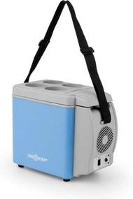 OneConcept Roadtrip mini termo chladiaci box 6l 12V adaptér auto modrá