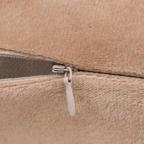 vidaXL Návliečky na vankúše, 4 ks, velúr, 80x80 cm, béžové