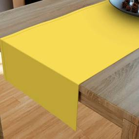 Goldea bavlnený behúň na stôl - žltý 20x160 cm