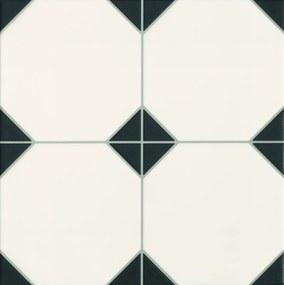 Dlažba Realonda Octagon black 33x33 cm mat OCTAGONBK