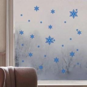 Veselá Stena Samolepka na stenu Snehové vločky