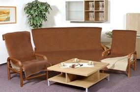Brotex Prikrývka na sedaciu súpravu Kira PLUS 3 + 1 + 1 hnedá / béžová