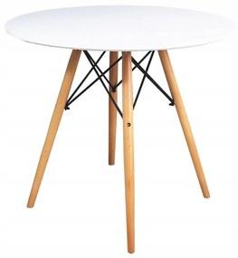 Bestent Okrúhly stôl ANELLO White 80 cm