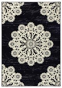 Čierny koberec Hanse Home Gloria Lace, 120 x 170 cm