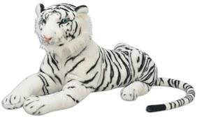 Hračka plyšový tiger, biely, XXL