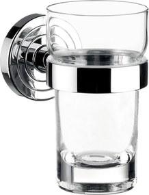 Emco Polo - Nástenný držiak s pohárom, krištáľové sklo 072000100