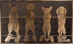 BO-MA Trading Gumová rohožka Strážcovia, 40 x 60 cm