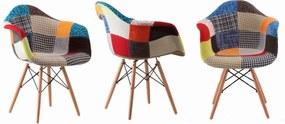 Jedálenské stoličky Wave Patchwork Sindy 4 ks
